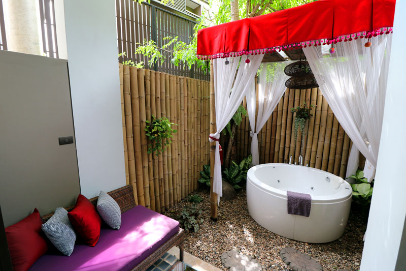 Nice Jacuzzi tub  in our private garden!